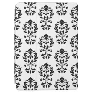 Heart Damask Ptn II Black on White iPad Air Cover