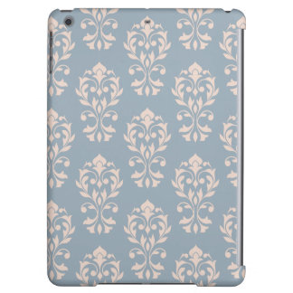 Heart Damask Ptn II Pink on Blue
