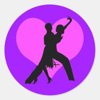 Heart dance classic round sticker