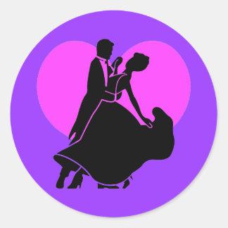 Heart dancers classic round sticker