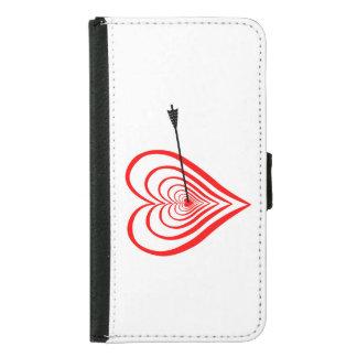 Heart Dartscheibe with arrow Samsung Galaxy S5 Wallet Case