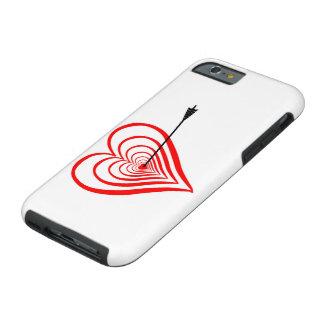 Heart Dartscheibe with arrow Tough iPhone 6 Case
