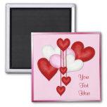 Heart Decor Square Magnet
