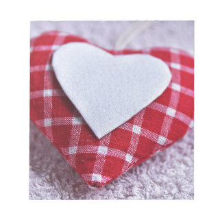 Heart Decoration Checkered Symbol Love Valentine Notepad