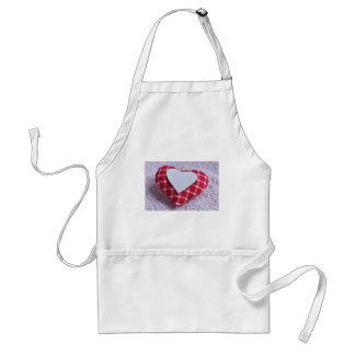 Heart Decoration Checkered Symbol Love Valentine Standard Apron