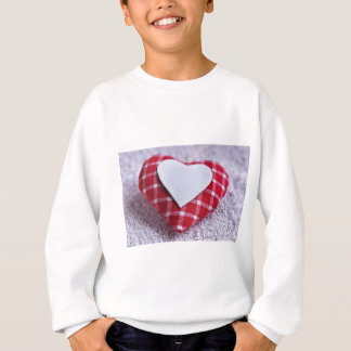 Heart Decoration Checkered Symbol Love Valentine Sweatshirt