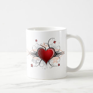 Heart Desgin Basic White Mug