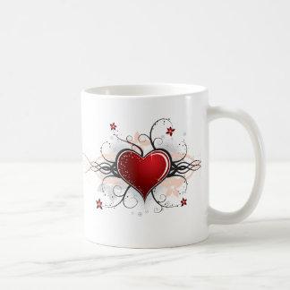 Heart Desgin Classic White Coffee Mug