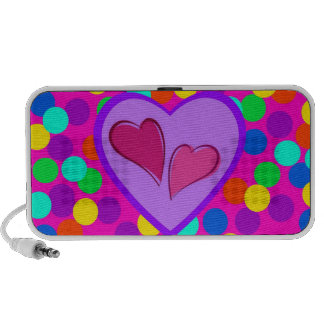 Heart design doodle speaker
