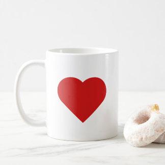 Heart Design - Red Coffee Mug