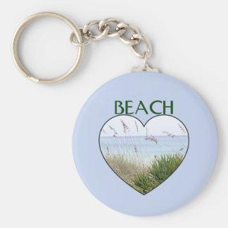 Heart Destin Beach Key Ring