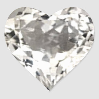 Heart Diamond Print Sticker