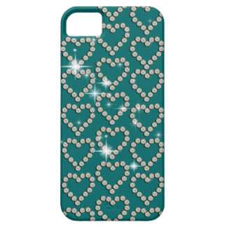 Heart diamond teal blue iPhone 5 cover
