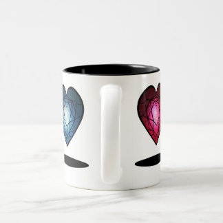heart diamond Two-Tone coffee mug
