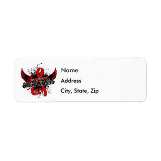 Heart Disease Awareness 16 Return Address Label