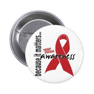 Heart Disease Awareness 6 Cm Round Badge