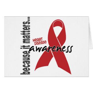 Heart Disease Awareness Greeting Card