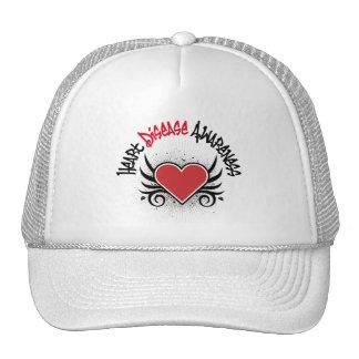 Heart Disease Awareness Grunge Trucker Hat