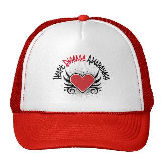 Heart Disease Awareness Grunge Mesh Hat