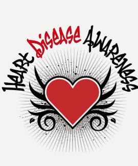 Heart Disease Awareness Grunge T Shirts