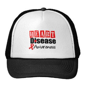 Heart Disease Awareness Mesh Hat