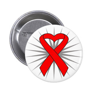 Heart Disease Awareness Heart Ribbon Pin