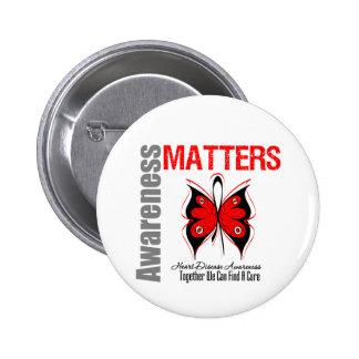 Heart Disease Awareness Matters Buttons