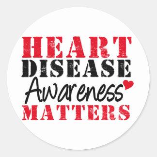 Heart Disease Awareness Matters Round Sticker