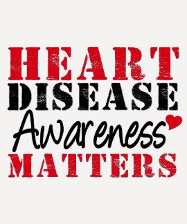 Heart Disease Awareness Matters Tee Shirts