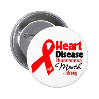 Heart Disease Awareness Month Pins