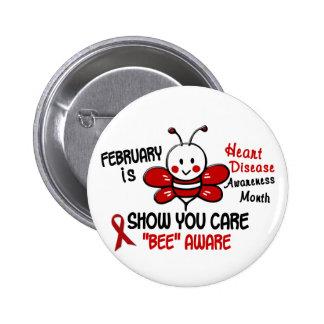 Heart Disease Awareness Month Bee 1 1 Pins