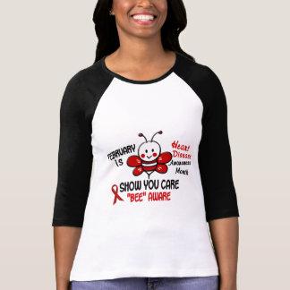 Heart Disease Awareness Month Bee 1.1 T-Shirt