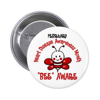 Heart Disease Awareness Month Bee 1 2 Buttons