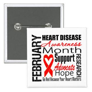 Heart Disease Awareness Month Pin