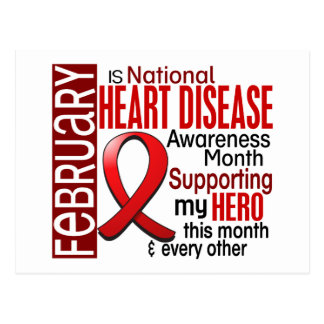 Heart Disease Awareness Month Ribbon I2.1 Postcard