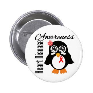 Heart Disease Awareness Penguin Pins