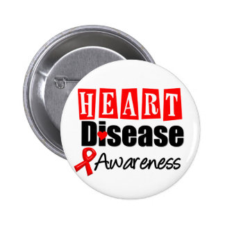 Heart Disease Awareness Pinback Button
