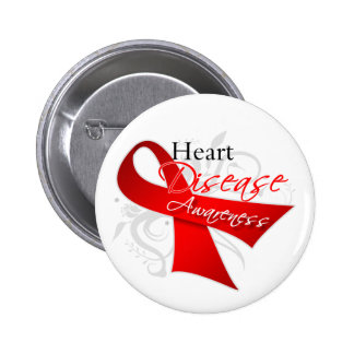 Heart Disease Awareness Ribbon Pin