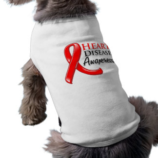Heart Disease Awareness Ribbon Sleeveless Dog Shirt