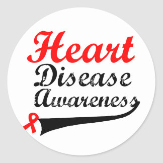 Heart Disease Awareness Round Sticker