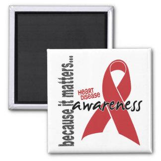 Heart Disease Awareness Square Magnet