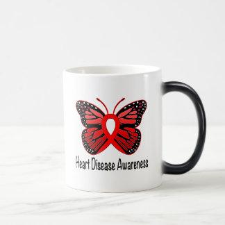 Heart Disease Butterfly Awareness Ribbon Magic Mug
