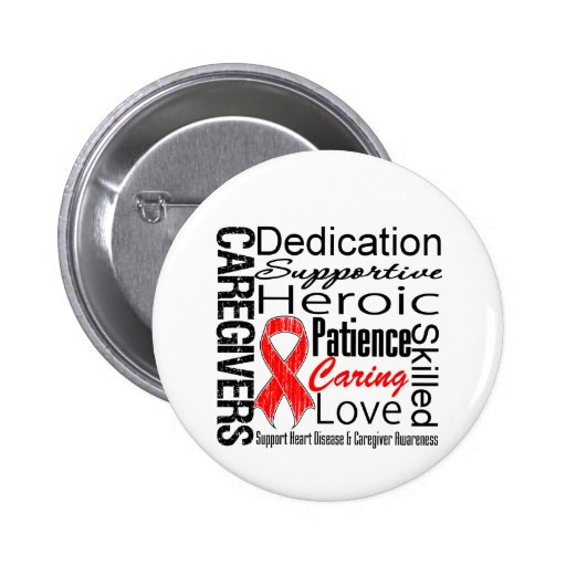 Heart Disease Caregivers Collage Pin
