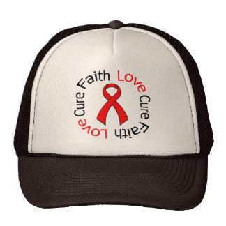 Heart Disease Faith Love Cure Hats
