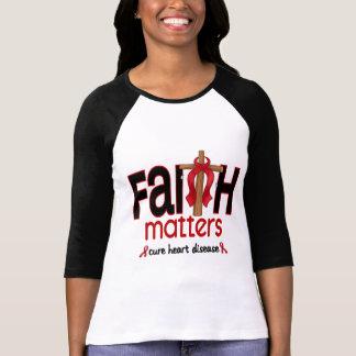 Heart Disease Faith Matters Cross 1 T-Shirt