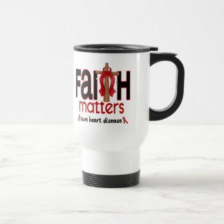 Heart Disease Faith Matters Cross 1 Travel Mug