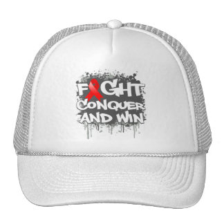 Heart Disease Fight Conquer and Win Mesh Hat