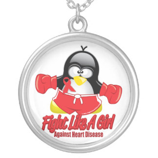 Heart Disease Fighting Penguin Silver Plated Necklace