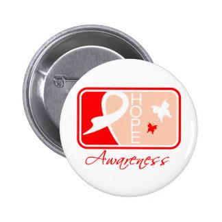 Heart Disease Hope Awareness Tile Pin