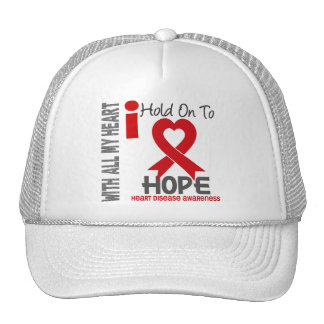 Heart Disease I Hold On To Hope Hat